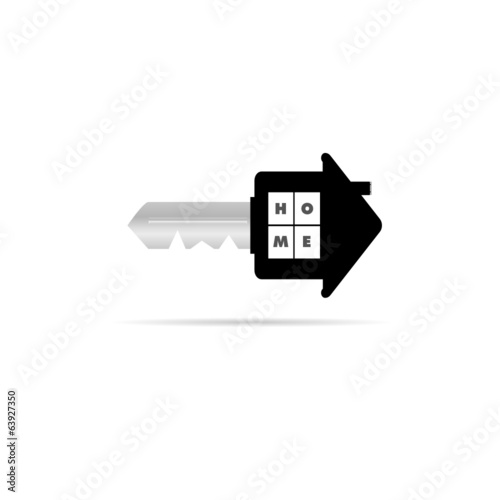 key with home on it vector