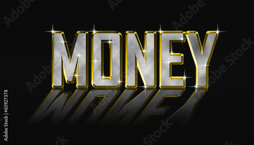 golden money letters