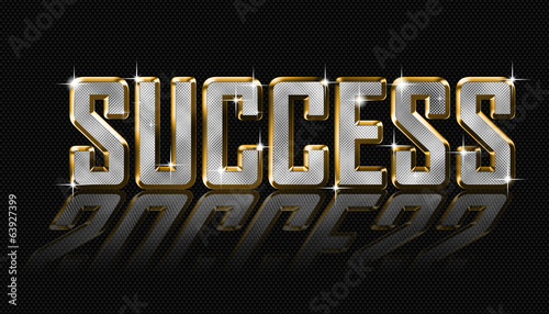 golden success letters