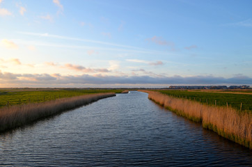 river in polder