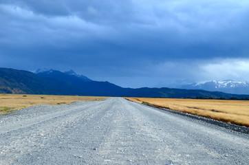 Gravel road in Torres del Paine, Patagonia