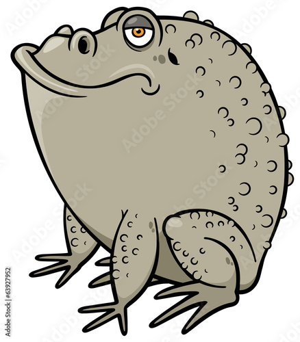 Vector illustration of Cartoon frog