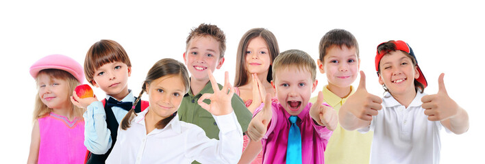 Group of children posing