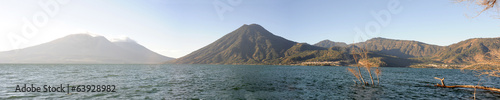 Lake Atitlan with volcano San Pedro