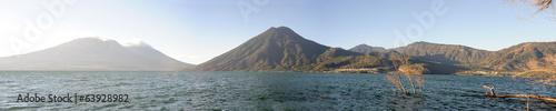 Fotobehang Centraal-Amerika Landen Lake Atitlan with volcano San Pedro