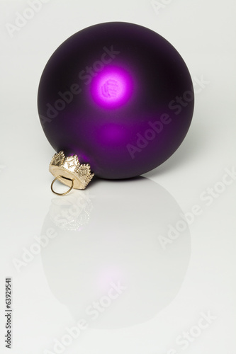 Christmas Ball Ornament Purple