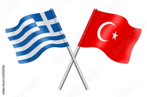 Flags: China and Turkey