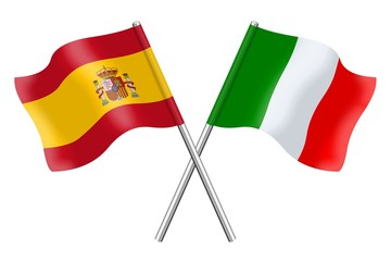 Flags: Spain and Italy