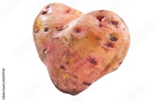 Potatoes in the form of heart
