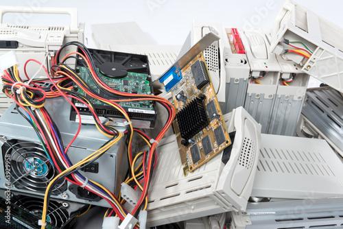 Leinwanddruck Bild Computerschrott