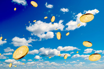 Coins in the sky.