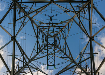power lines skyward