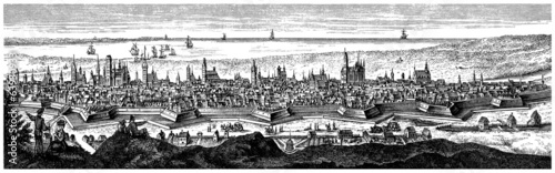 Ancient City : Panoramic View - 18th century