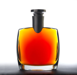 The bottle of brandy (cognac)
