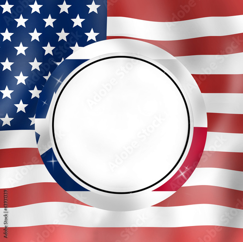 Texan round icon and USA Design