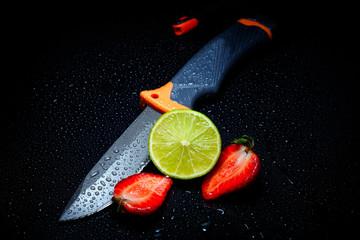 fresh fruits in studio