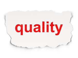 Marketing concept: Quality on Paper background