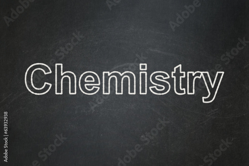Education concept: Chemistry on chalkboard background