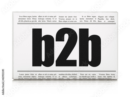 Business concept: newspaper headline B2b