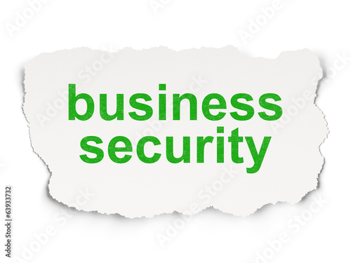 Safety concept: Business Security on Paper background