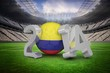 Composite image of colombia world cup 2014 message
