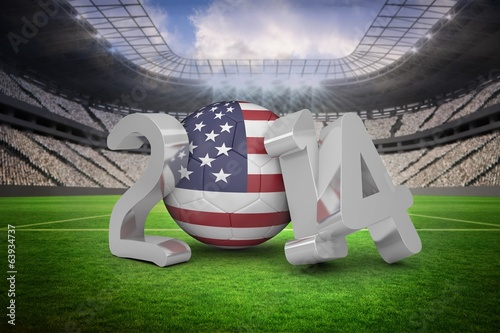 Composite image of america world cup 2014