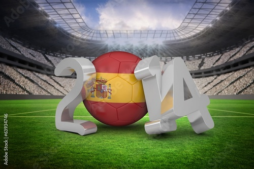 Composite image of spain world cup 2014