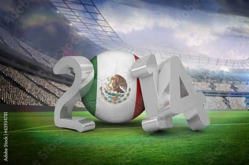 Composite image of mexico world cup 2014
