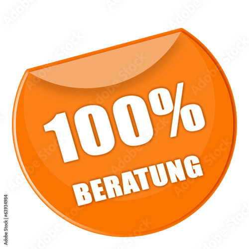 Button Beratung in orange - g847