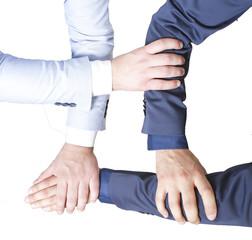 four hands to teamwork