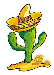 Cactus and Sombrero