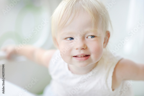 Adorable toddler girl portrait
