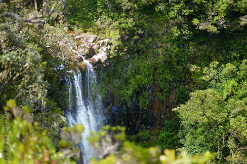 Scenic Alexandra falls in jungle of Mauritius
