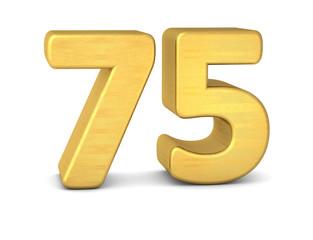 zahl cipher 75 gold vertikal