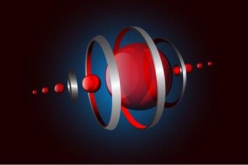 composizione sfere, hi tech