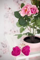 Little pink booties