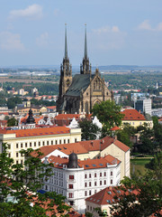 view of Brno and Cathedral of St. Peter and Paul, Czech Republic