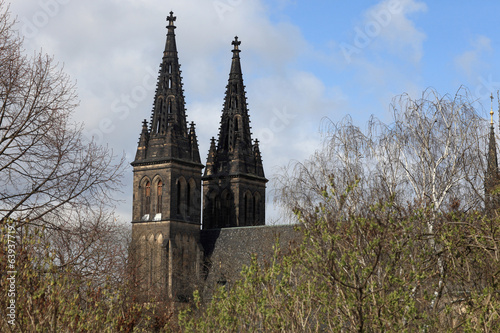 Side of basilica in Vysehrad