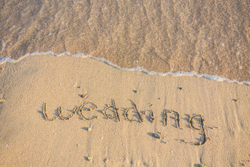 Wedding written in the Sand