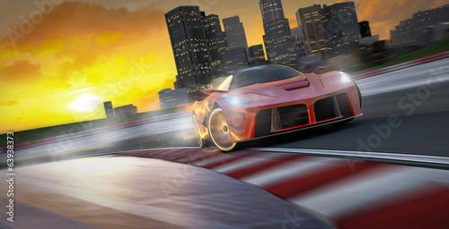 Foto op Aluminium Motorsport driftender sportwagen