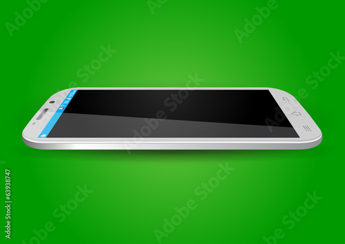 Modern Touchscreen Mobile Vector Illustration