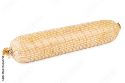 Sausage in mesh and polyethylene packaging