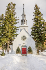 Village Church in Winter