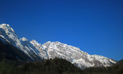 Snow covered peak in Alps