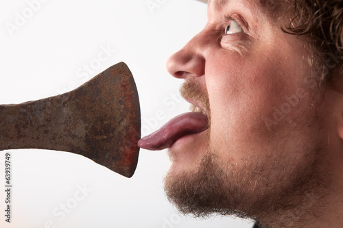 Licking on the Ax