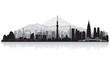 Tokyo Japan city skyline silhouette