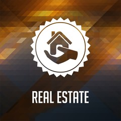 Real Estate on Triangle Background.
