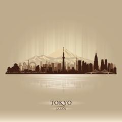 Tokyo Japan city skyline vector silhouette