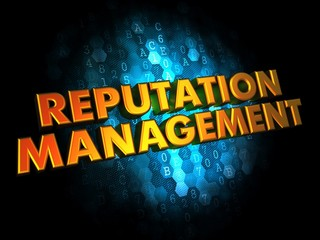 Reputation Management Concept on Digital Background.