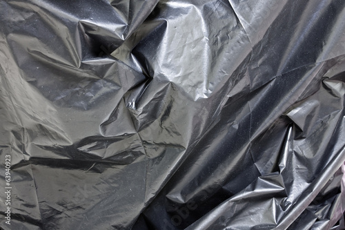 plastic black bag, background and textures